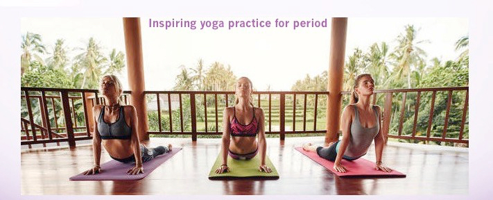 Inspiring yoga practice for period